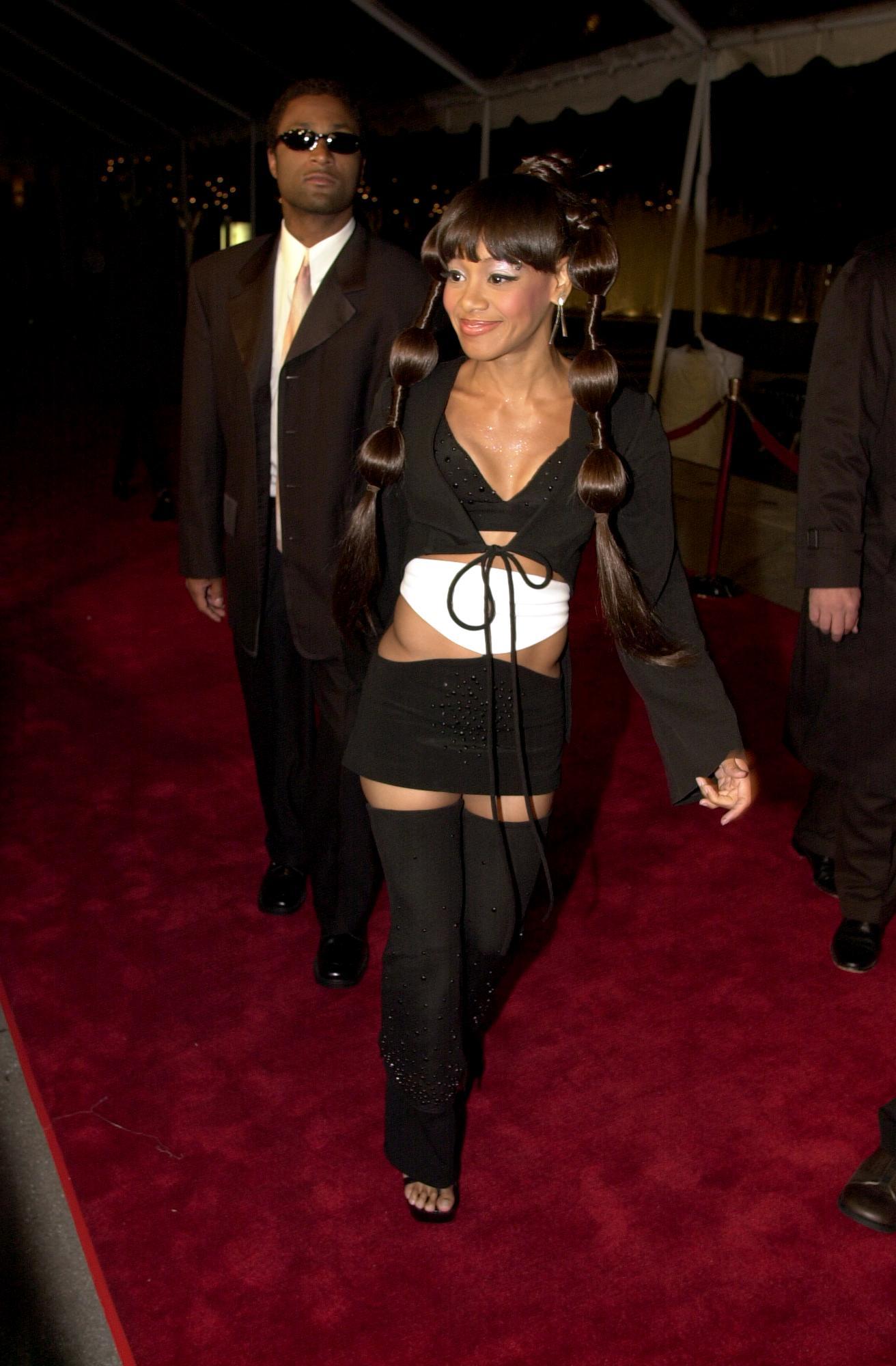left eye Warner Bros. Grammy after-party GETTY