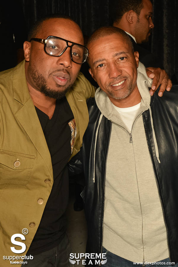 Shane Mooney and Kevin Lyles take advantage of a photo op while kickin' it at Supperclub Hollywood.