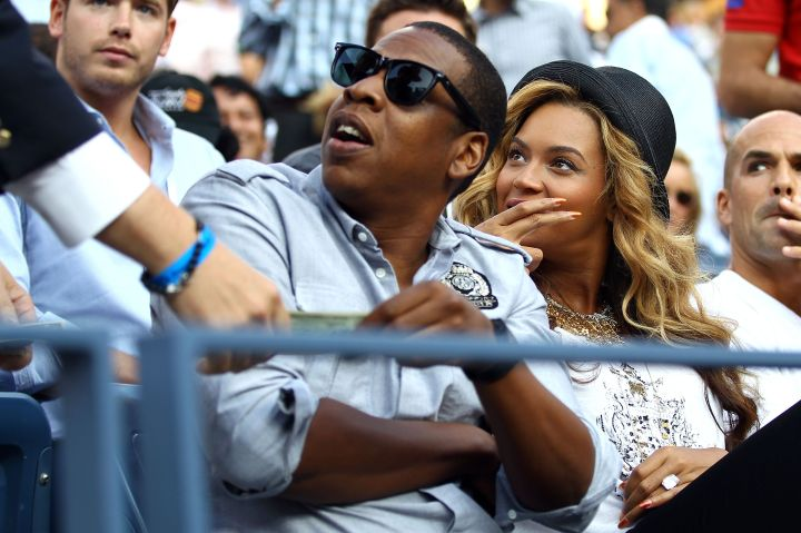 Jay Z and Beyonce at the 2011 US Open.