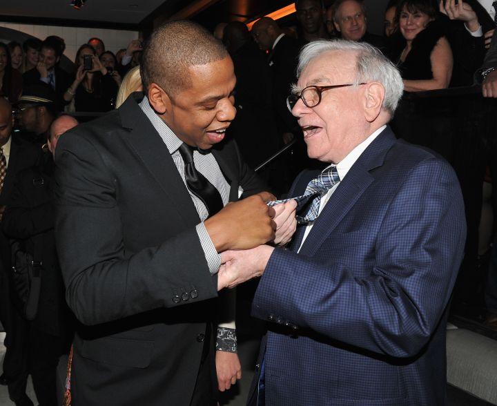 Jay Z and Warren Buffet