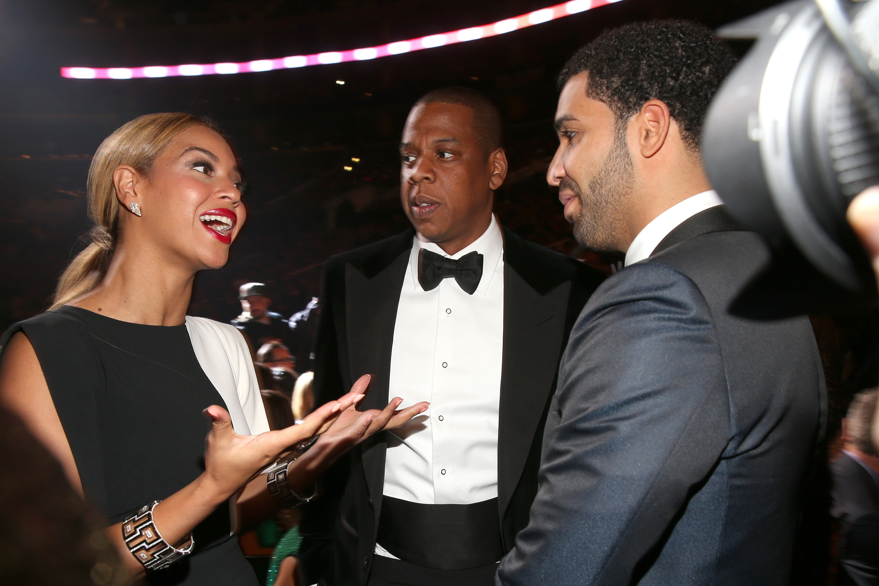 Beyonce, Jay-Z, and Drake at the 55th GRAMMY Awards