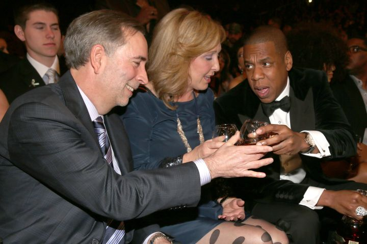 Jay Z at the 55th Annual GRAMMYs.