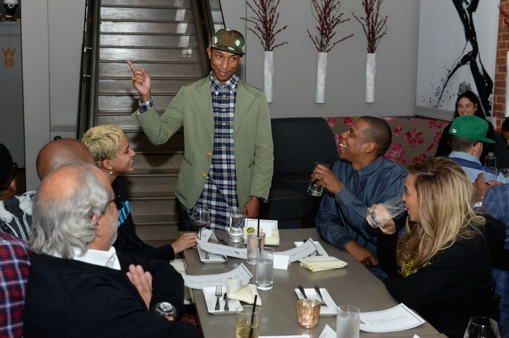 Pharrell, his wife Helen, Jay Z, and Beyonce