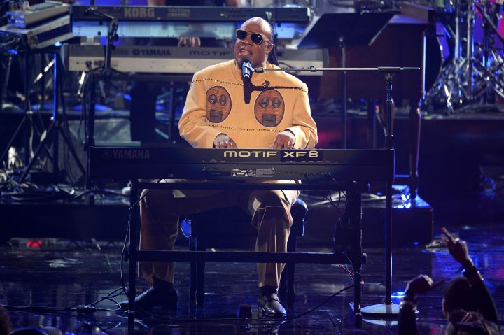 "Stevie Wonder took home the award for Best Original Song for his ballad ""I Just Called To Say I Love You."""