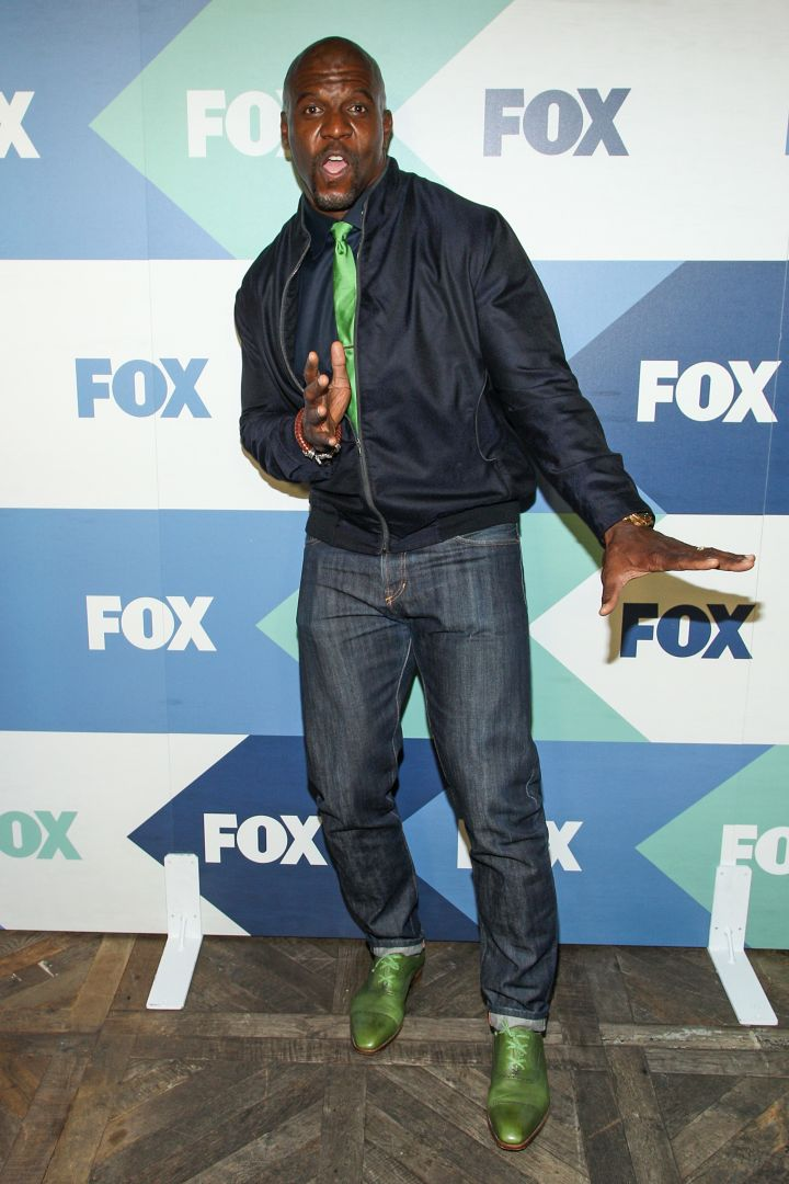 Terry Crews strikes a pose on the red carpet at the Fox All-Star Party.