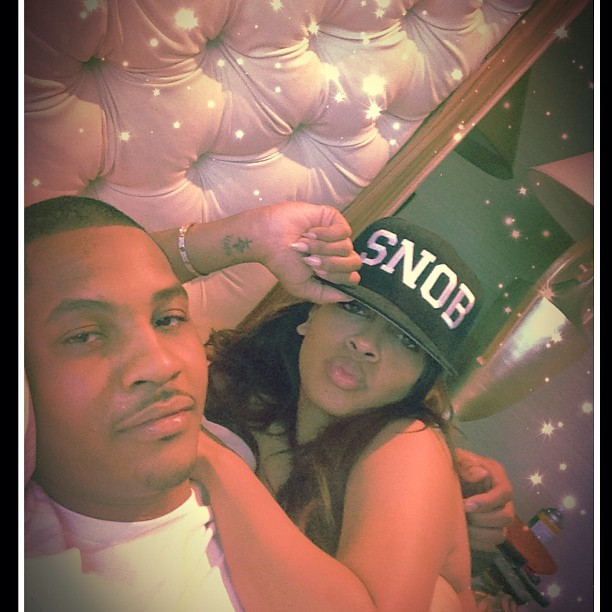 Coupled Up: Melo shared this super sexy photo of him and his wife.