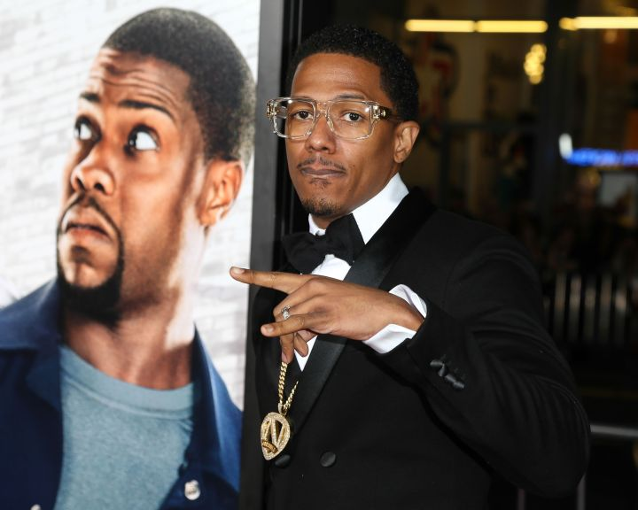 "Nick Cannon shows out on his suit and tie ish at the L.A. premiere of ""Ride Along."""