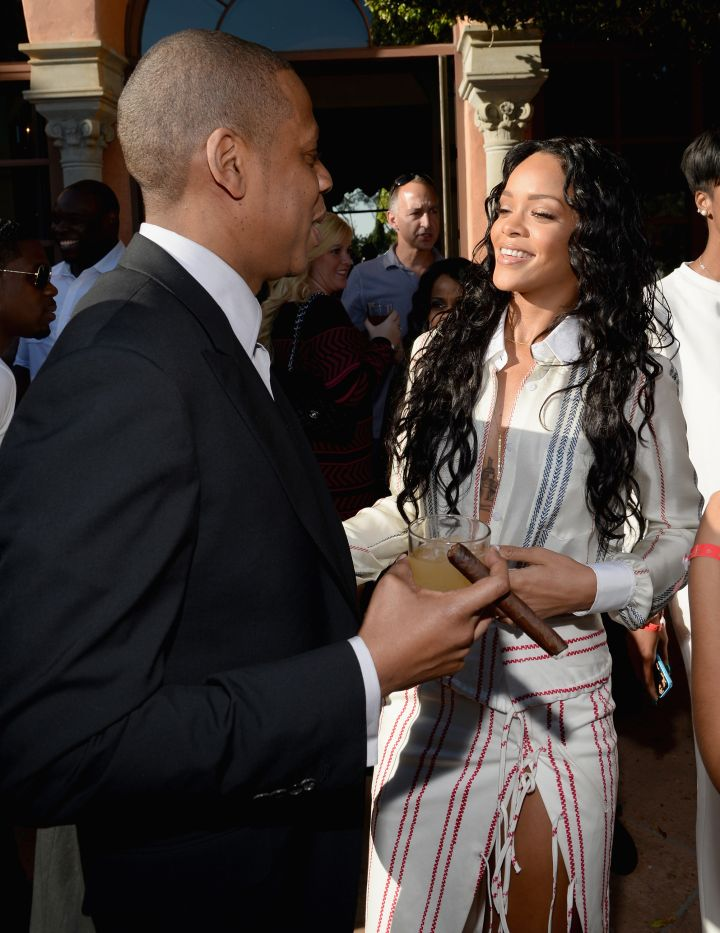 Jay Z and Rihanna
