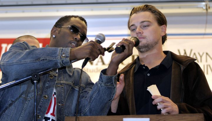 Leo wouldn't be a baller if he didn't hang around infamous ballers like Diddy.