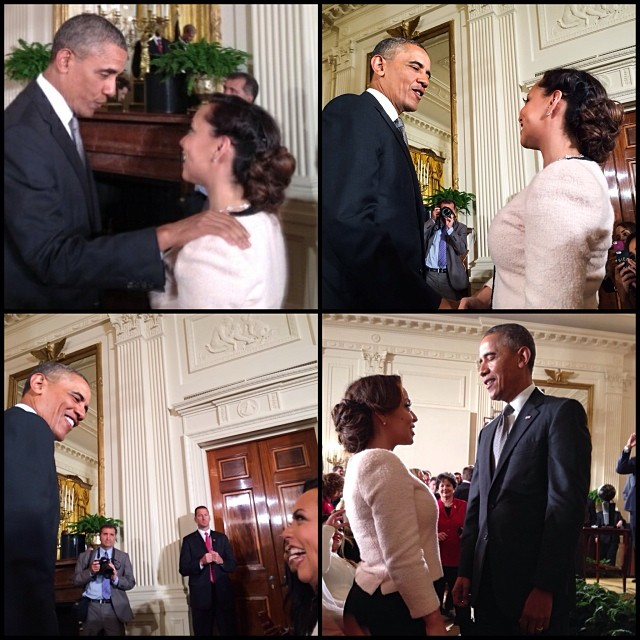 Chris Bosh's wife Adrienne Bosh shares with her followers her second trip to the White House.