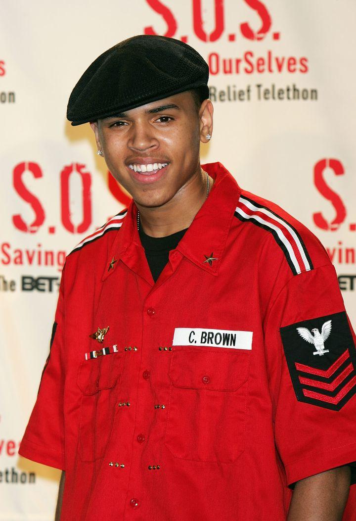 Adorable! Breezy lets his dimples show while supporting a BET benefit for Hurricane Katrina victims.