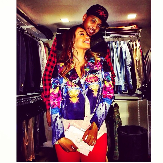 Aww! LaLa & Carmelo are the sweetest couple in this uber cute pic.