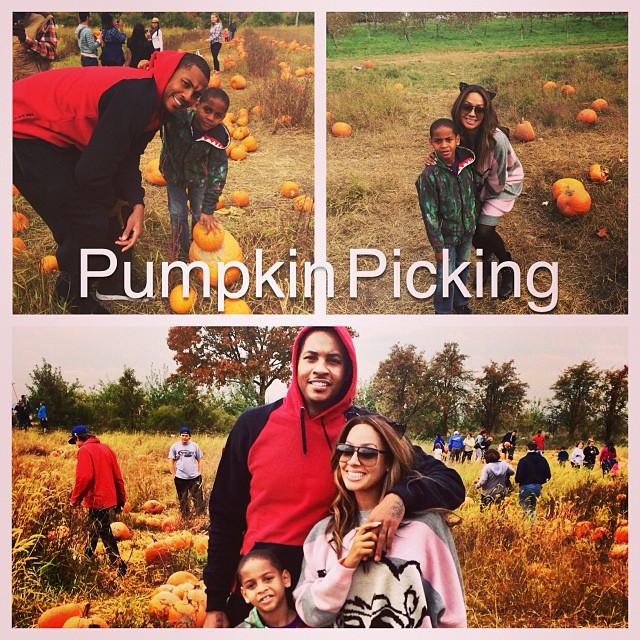 Happy Halloween! The Anthony's go pumpkin picking.