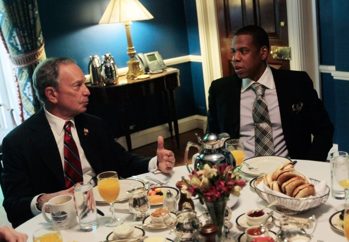 Michael Bloomberg and Jay Z