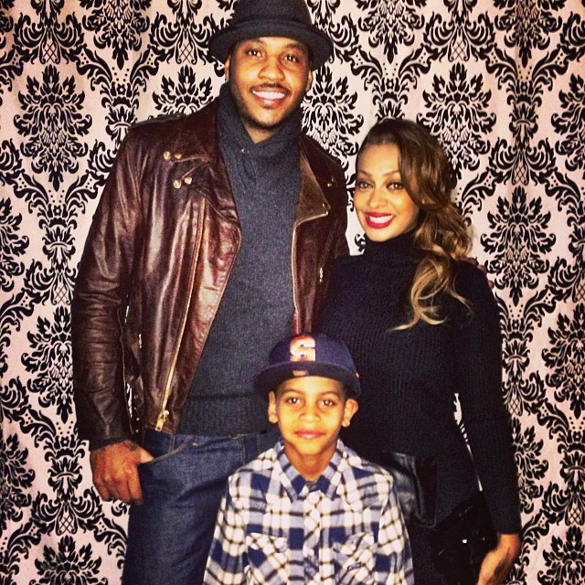 The Anthony's! We love this photo of their small family of three.