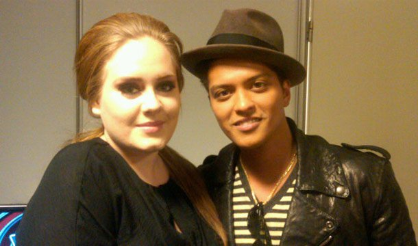 Adele and Bruno Mars