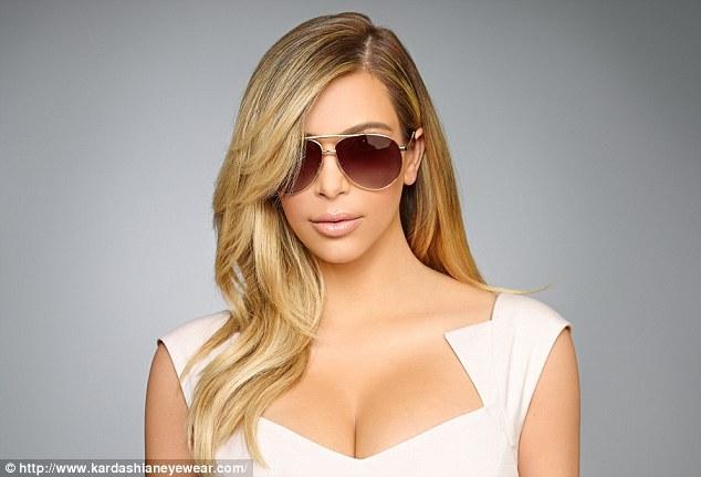 Kim in Kardashian eyewear