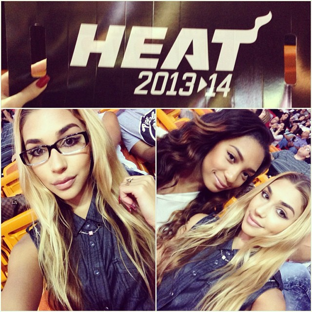 At the Miami Heat playoff games.