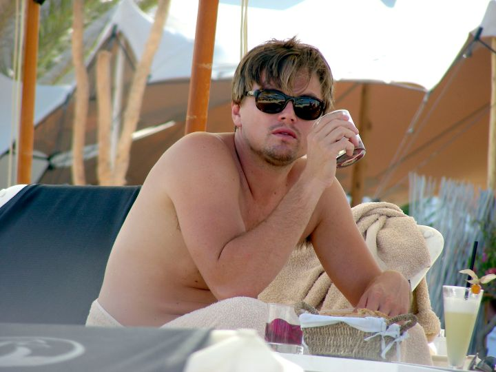 Leonardo frequently vacays in places that consist of good drinks and good friends.