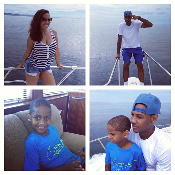 La Familia! LaLa spends time creating great memories with her family on Labor Day weekend.