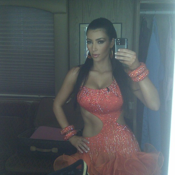 Throwback! Back when Kim was a contestant on 'Dancing With The Stars'