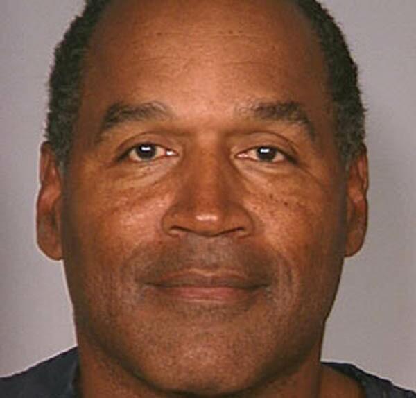 OJ Simpson following his 2007 Las Vegas arrest.