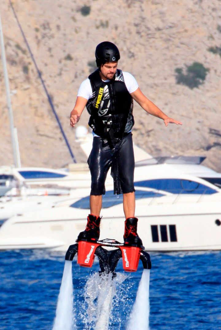No one else can make water jet packing look as good as Leo does.