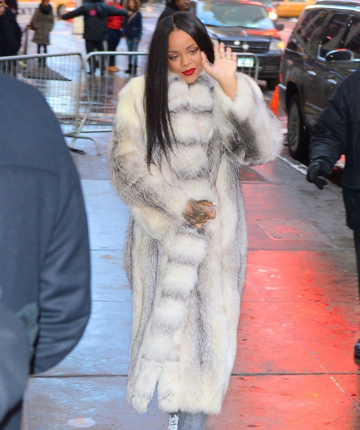 Rihanna is picture perfection at Good Morning America.