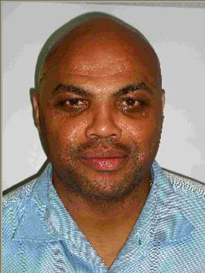 Charles Barkley's mugshot after he was arrested for drink driving in 2008.