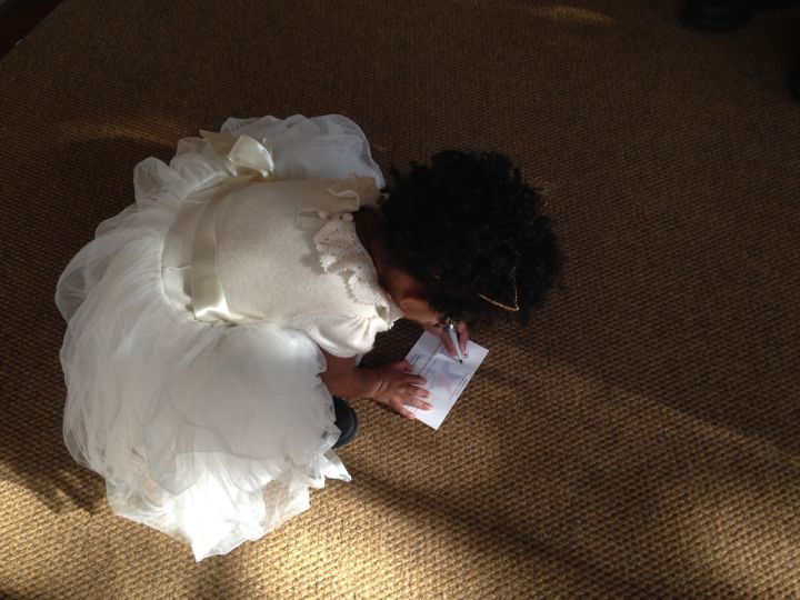 Blue Ivy is definitely an angel in all-white.