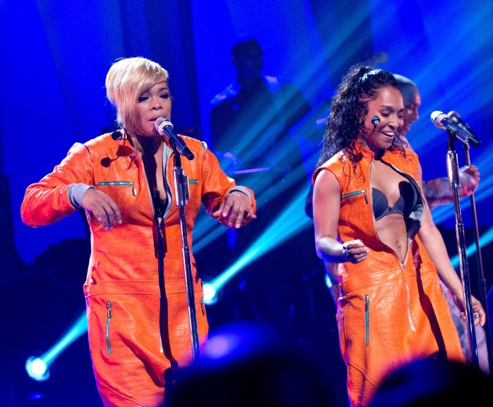 TLC do their thing during the Super Bowl Concert Series at Beacon Theater in NYC.