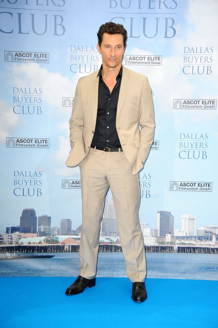 """Matthew McConaughey was nothing less than suave as he hit up a photo call for his latest movie """"Dallas Buyers Club."""""""