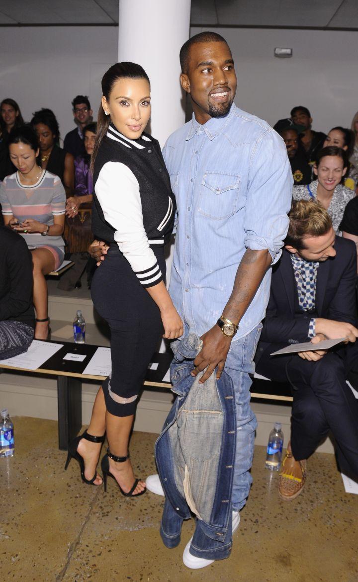 She let Kanye hold them.