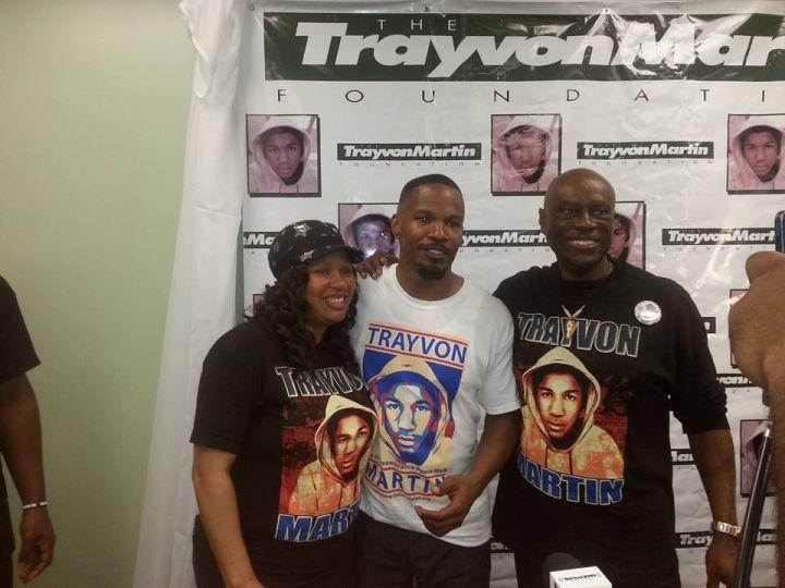 Trayvon Martin's family and Jamie Foxx honor him at the Miami Peace Walk