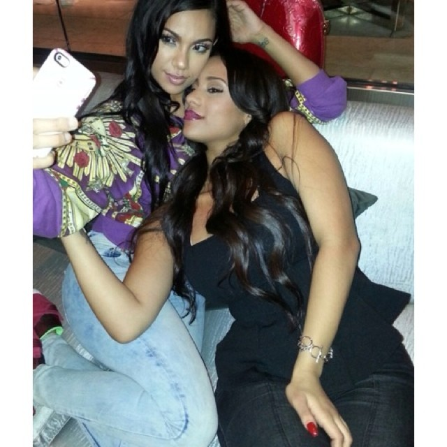 Cyn was spotted all up on her girl…