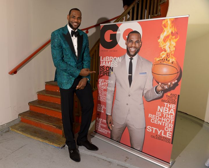 LeBron James at the GQ All-Star Party