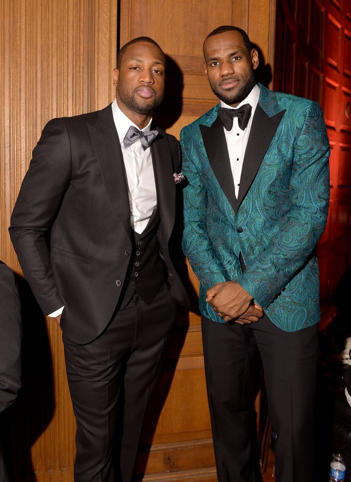 LeBron James and Dwayne Wade at the GQ All-Star Party