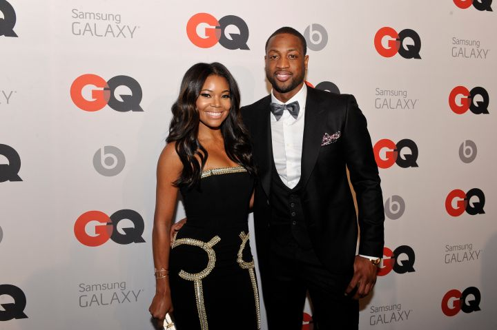 Gabrielle Union and Dwyane Wade at the GQ All-Star Party