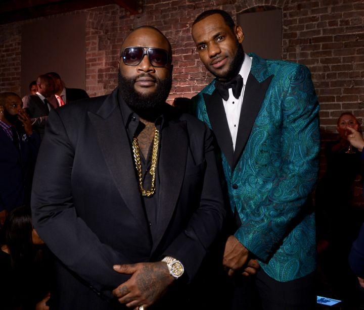 Rick Ross and LeBron James at the GQ All-Star Party