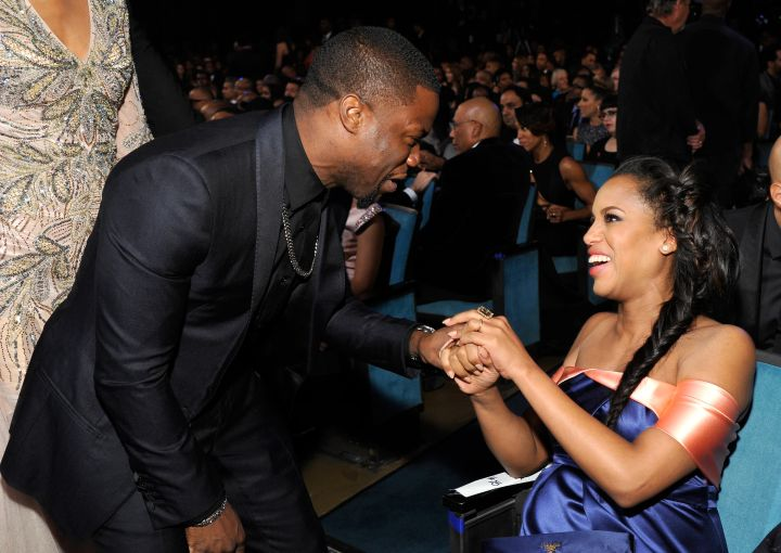 Kerry Washington chats it up with Kevin Hart