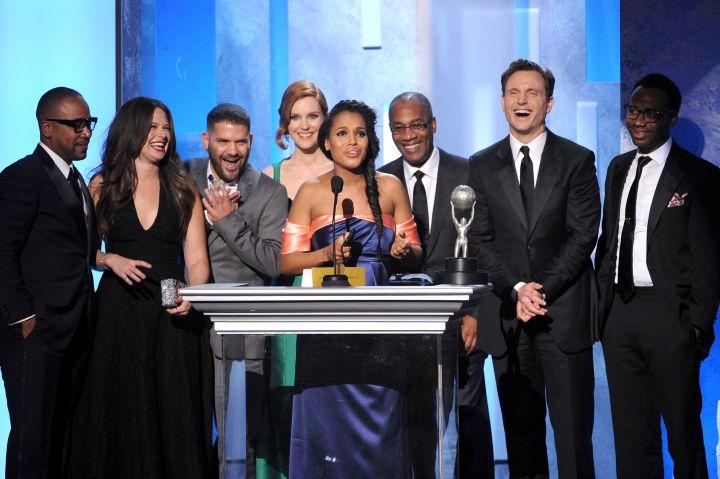 Kerry Washington makes a speech for her Outstanding Actress award