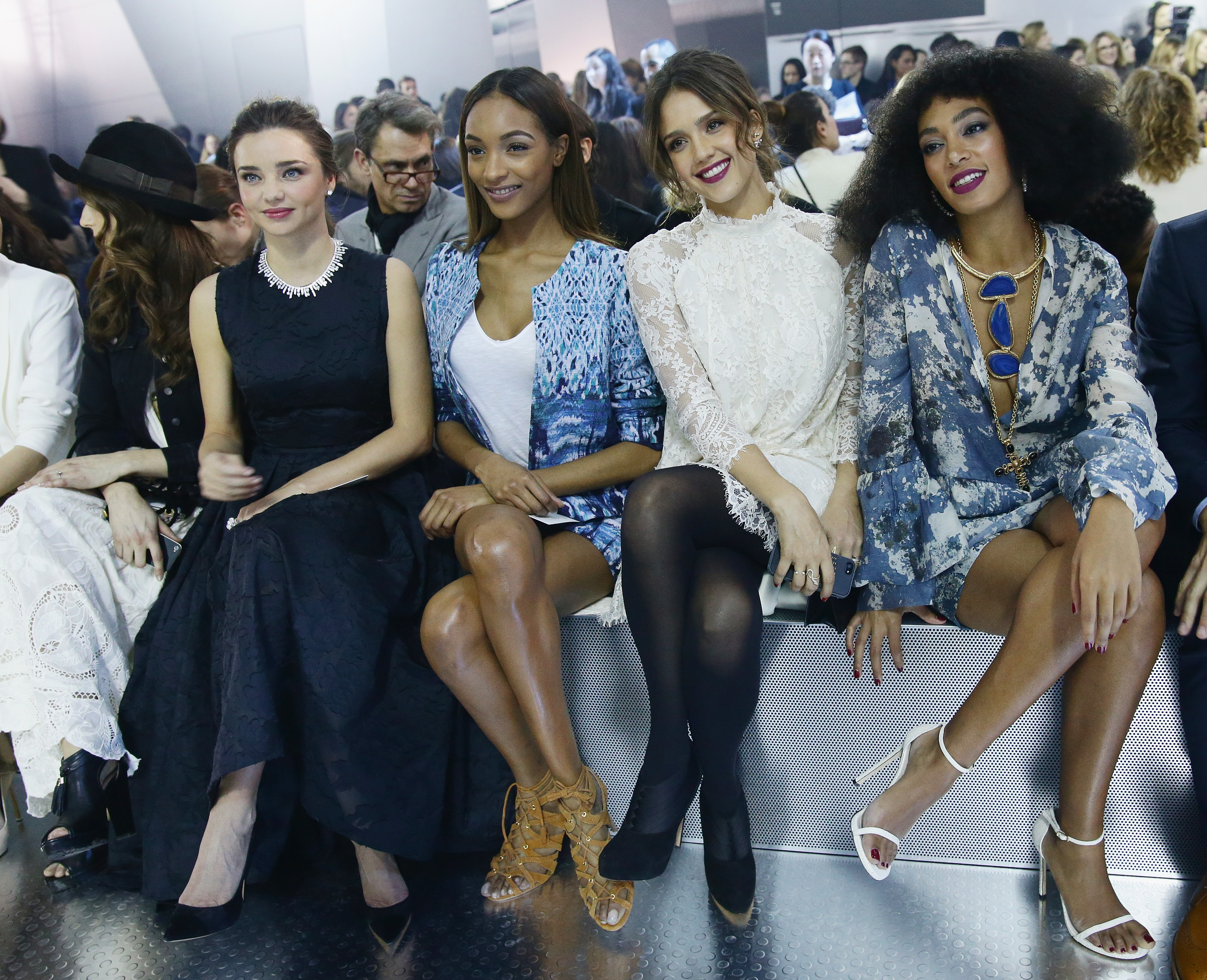 H&M : Front Row  - Paris Fashion Week Womenswear Fall/Winter 2014-2015