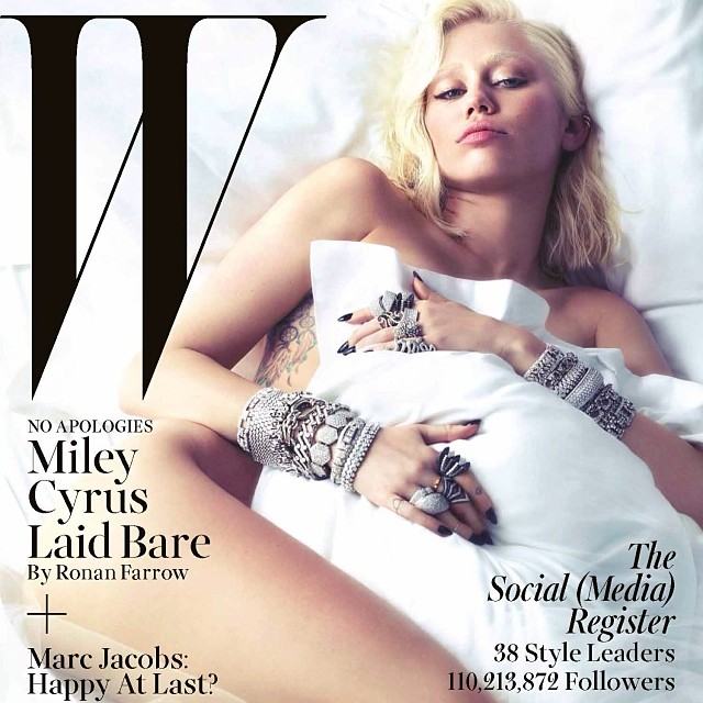 Miley also posed nude for W mag.