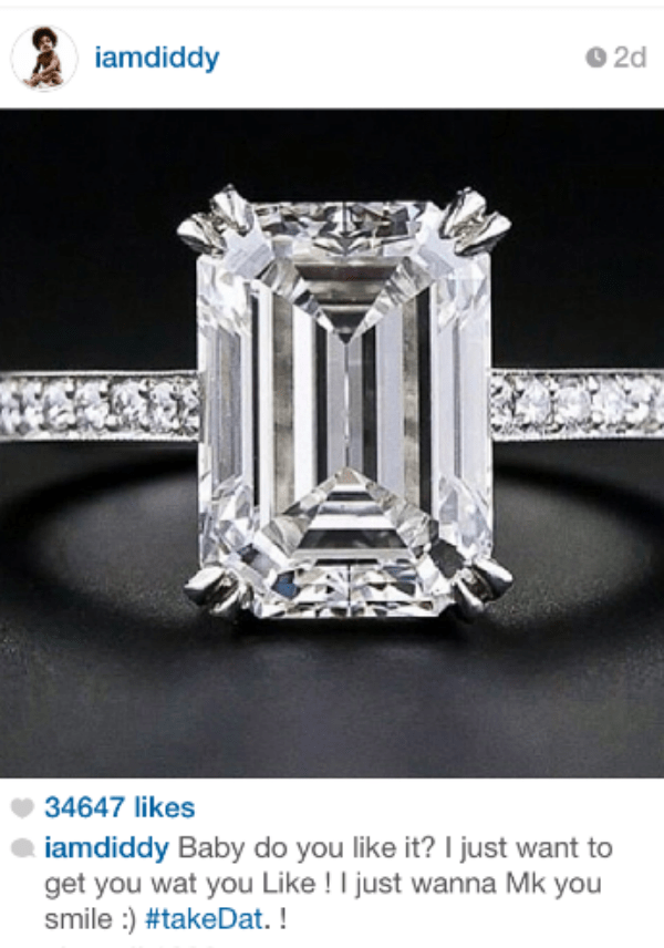 The engagement ring. Look at that rock!
