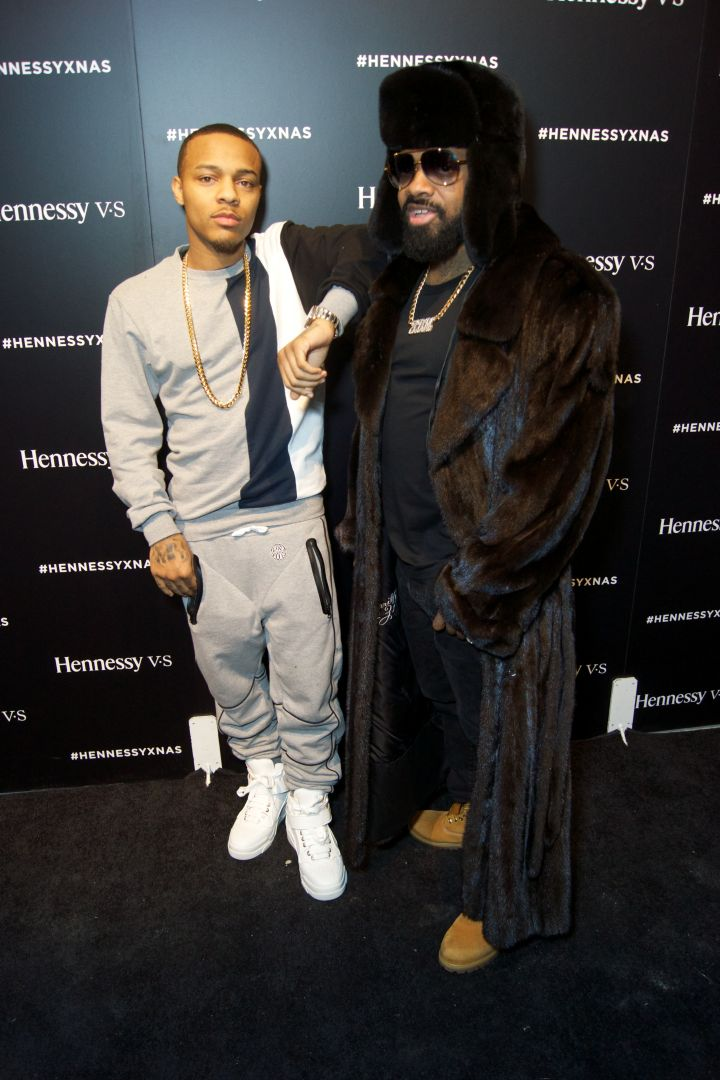 Bow Wow and Jermaine Dupri pose at the Hennessy party.