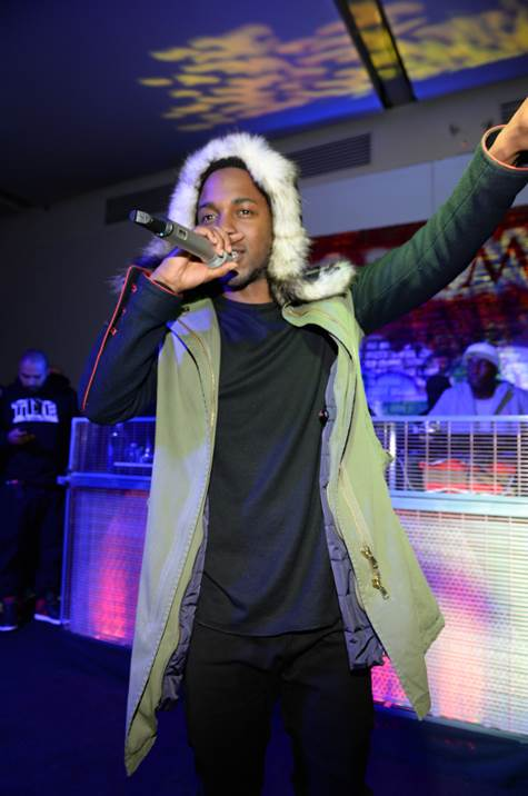 """Kendrick Lamar's surprise performance at Talent Resources Sports presents MAXIM Magazine's """"Big Game Weekend"""" at Espace in New York on Saturday."""
