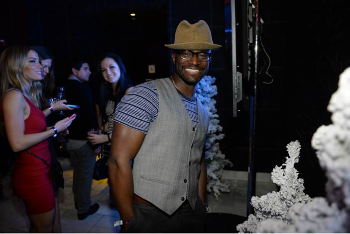 """Taye Diggs was all smiles at Talent Resources Sports presents MAXIM Magazine's """"Big Game Weekend"""" sponsored by Philippe Chow and Patron Tequila in New York on Saturday."""
