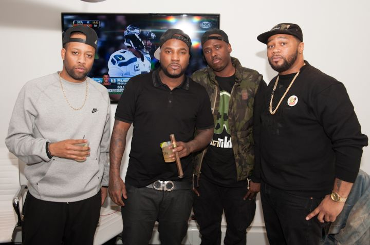 LowKey, BlogXilla, and Nigel D. with Young Jeezy