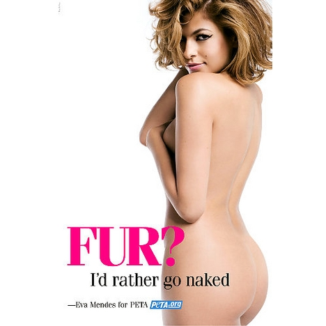 Eva Mendes bared her booty for PETA in 2007.