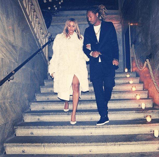 True Gentleman: Future escorts Ciara as they make their way down the stairs.
